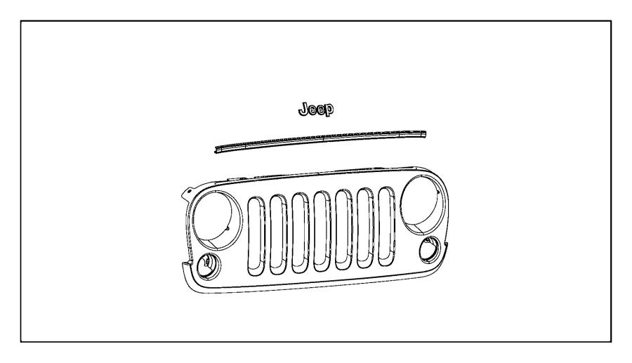 I on Jeep Wrangler Oem Parts Diagram Grille