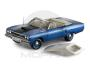 Diecast, 1970 Plymouth Hemi Road Runner Convertible, B-5 Blue With White Top, 1:18 Scale